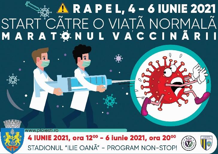 Primăria Municipiului Ploieşti va da startul maratonului de vaccinare rapel anti-Covid-19