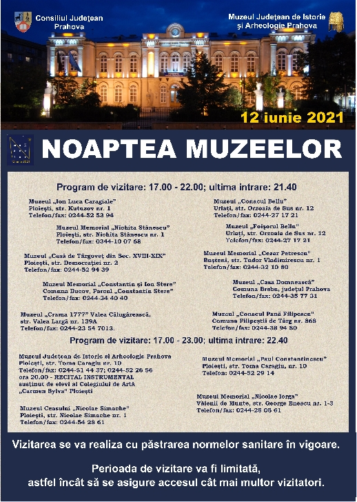 Noaptea Muzeelor, la muzeele din Prahova