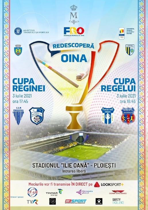 """Cupa Reginei şi Cupa Regelui la oină, găzduite, sâmbătă, de Stadionul """"Ilie Oană"""""""