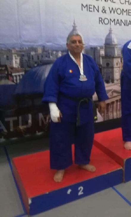 Alexandru Constantinescu, vicecampion internaţional la judo (veterani)