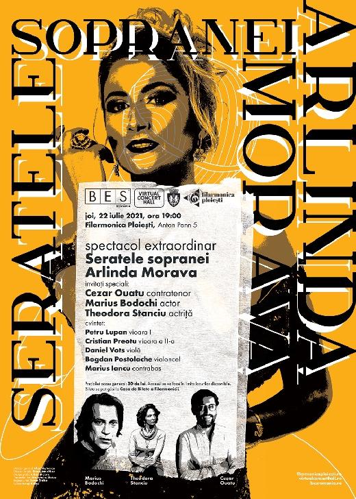 """Spectacol  extraordinar """"Seratele sopranei Arlinda Morava"""", la Filarmonica """"Paul Constantinescu"""" Ploiesti"""