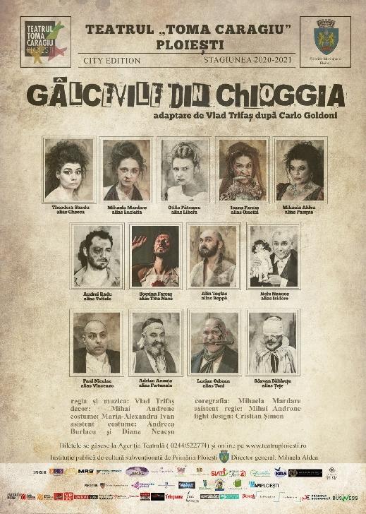 """Teatrul """"Toma Caragiu"""" Ploiesti. Programul spectacolelor in perioada 12-18 iulie 2021"""
