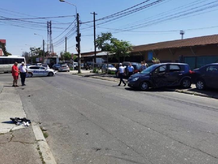 Accident rutier în Ploieşti, la intersecţia străzilor Bobâlna cu Depoului