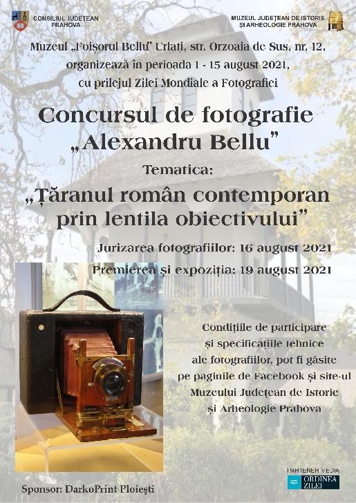 """Concursul de fotografie """"Alexandru Bellu"""" la   Muzeul """"Foişorul Bellu"""" Urlaţi"""