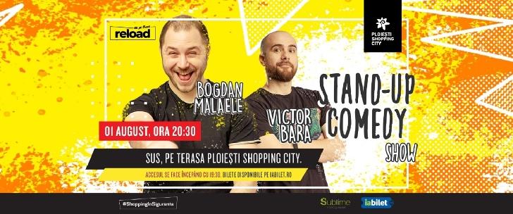 Spectacol de stand-up cu Bogdan Mălăele şi Victor Băra sus pe terasa Ploieşti Shopping City