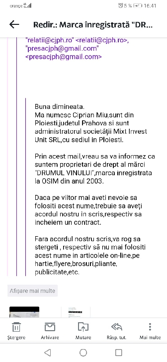 """Denumirea"""" Drumul vinului"""" este folosită ilegal de autorităţile prahovene !?!"""