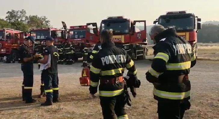 Prima misiune a pompierilor salvatori în Grecia a început în această dimineaţă, în zona Spathari (video)