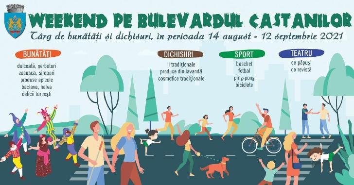 """Primăria Municipiului Ploieşti organizează """"Weekend pe Bulevardul Castanilor"""""""