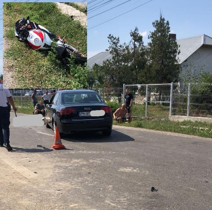 Accident mortal in  în sensul giratoriu de la Tătărani.Un motociclist a  decedat dupa o coliziune cu un autoturism