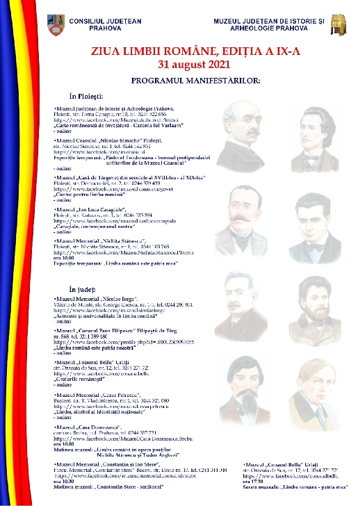 Ziua Limbii Române celebrată la muzeele din Prahova
