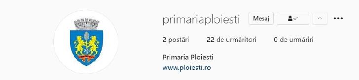 Primăria municipiului Ploieşti are cont pe reţeaua de socializare Instagram
