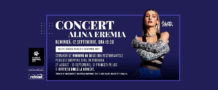 Alina Eremia susţine un concert pe terasa Ploieşti Shopping City, pe 12 septembrie 2021