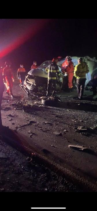 Accident grav în zona sensului giratoriu suspendat de la Blejoi