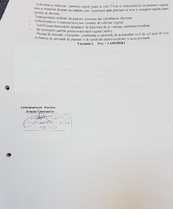 """CSM Ploiesti.Informare privind situaţia gazonului de pe Stadionul """"Ilie Oană"""""""