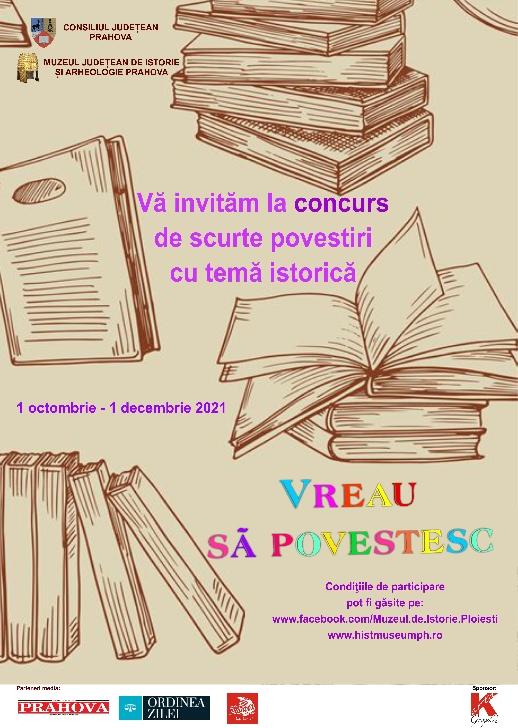 Concurs de scurte povestiri pentru elevii claselor I -VIII la Muzeul Judeţean de Istorie şi Arheologie Prahova