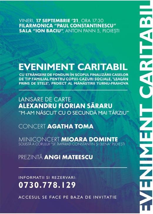 """Eveniment caritabil """"De suflet-pentru suflet""""  la Filarmonica"""" Paul Constantinescu"""" Ploieşti"""