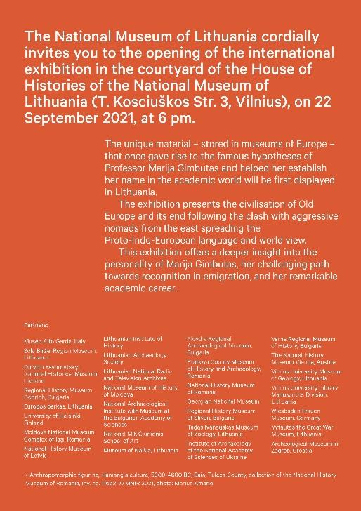 """Muzeul Judeţean de Istorie şi Arheologie Prahova - colaborator la expoziţia """"Goddesses and Warriors"""", organizată de NATIONAL MUSEUM of LITHUANIA din Vilnius"""