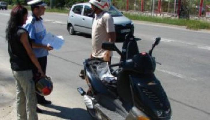 Un motociclist s-a ales cu dosar penal. Nu  avea permis corespunzător categoriei sau subcategoriei din care face parte vehiculul respectiv